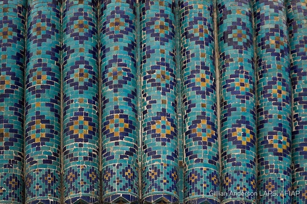 Tiles, Amur Timur Mausoleum, Samarkand by Gillian Anderson LAPS, AFIAP