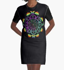 Mandala Graphic T-Shirt Dress