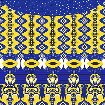 royal blue and yellow by LBehrendtDesign