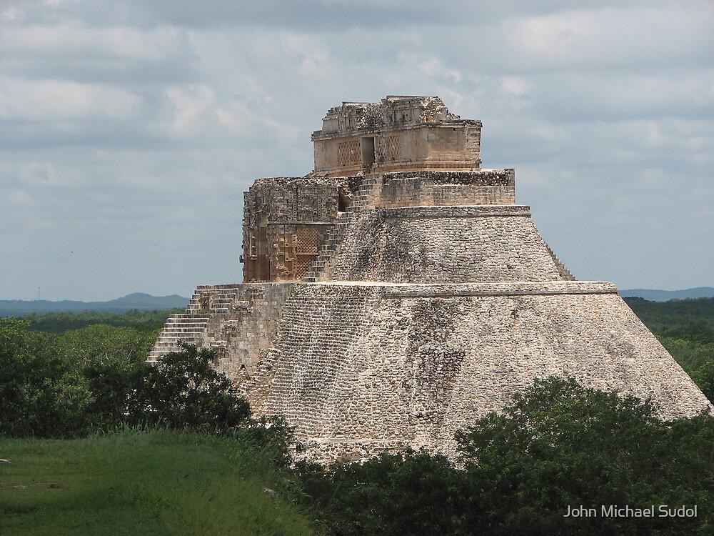 Mayan Pyramid, Uxmal by John Michael Sudol