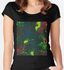 Blacklight Flow - Acrylic Painting Art Women's Fitted Scoop T-Shirt