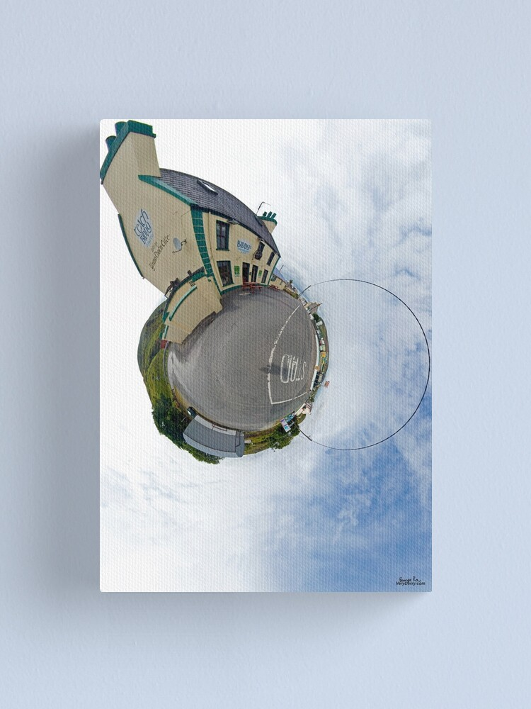Alternate view of Biddy's House - the Crossroads Pub, Glencolmcille(Sky Out) Canvas Print