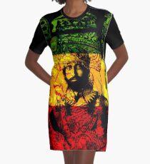 Rasta Haile Selassie Natural Mystic Lion of Judah Graphic T-Shirt Dress
