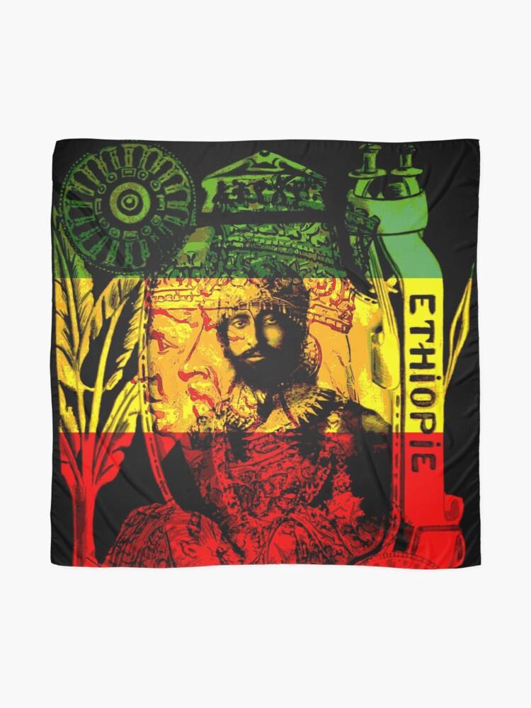 Alternate view of Rasta Haile Selassie Natural Mystic Lion of Judah Scarf
