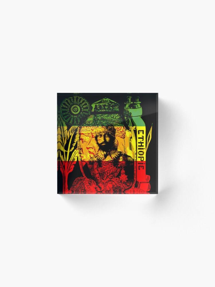 Alternate view of Rasta Haile Selassie Natural Mystic Lion of Judah Acrylic Block