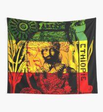 Rasta Haile Selassie Natürlicher mystischer Löwe von Juda Wandbehang