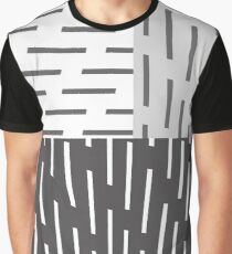 Gray On Gray Abstract Art Graphic T-Shirt