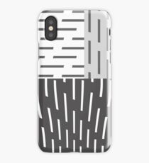 Gray On Gray Abstract Art iPhone Case/Skin