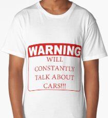 warning cars Long T-Shirt
