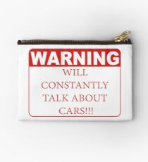warning cars Studio Pouch