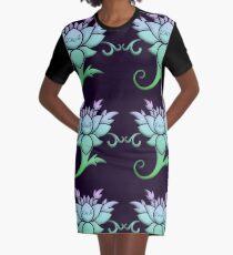 Lotus Graphic T-Shirt Dress