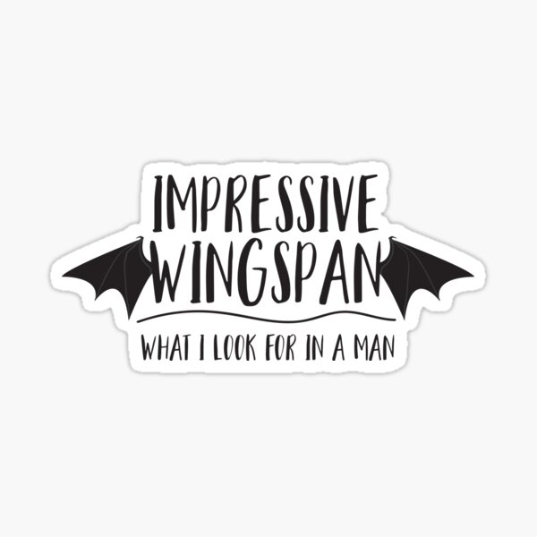Impressive Wingspan - ACOTAR Sticker