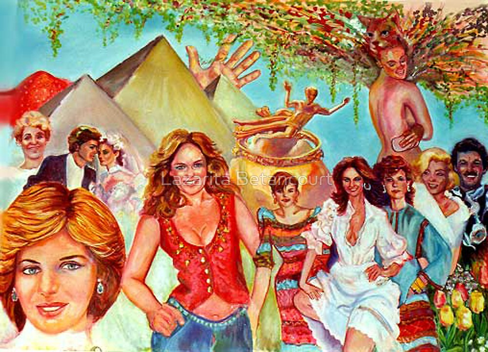 Princess Di and company by Lazarita Betancourt