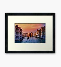 Venice City Canal (Sundown)  Framed Print