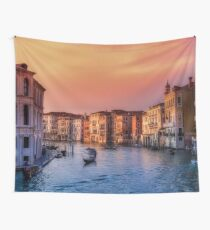 Venice City Canal (Sundown)  Wall Tapestry
