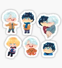 Yuri!!! on Ice Sticker Set Sticker