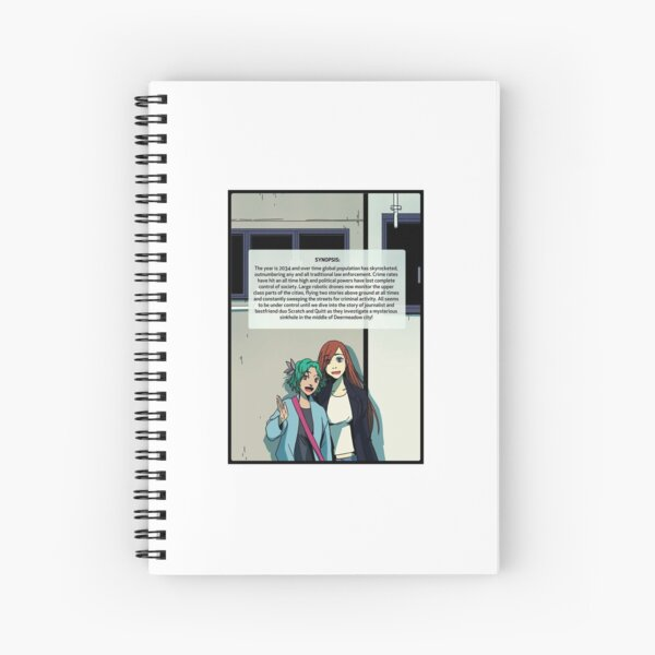 Angels with synopsis! Spiral Notebook