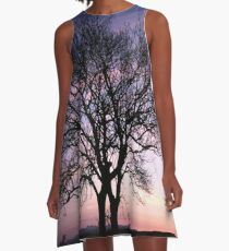 Two Trees embracing A-Line Dress