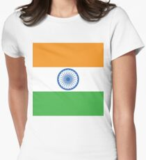 India Flag Women's Fitted T-Shirt