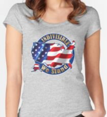 Indivisible We Stand Womens Equality Day Tee Shirt Women's Fitted Scoop T-Shirt