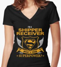 SHIPPER RECEIVER BEST COLLECTION 2017 Women's Fitted V-Neck T-Shirt
