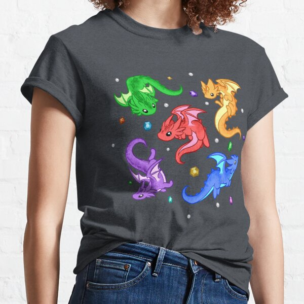 Gem Dragon Pattern Classic T-Shirt