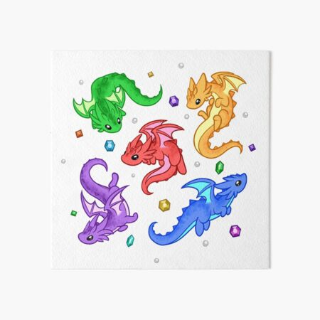 Gem Dragon Pattern Art Board Print