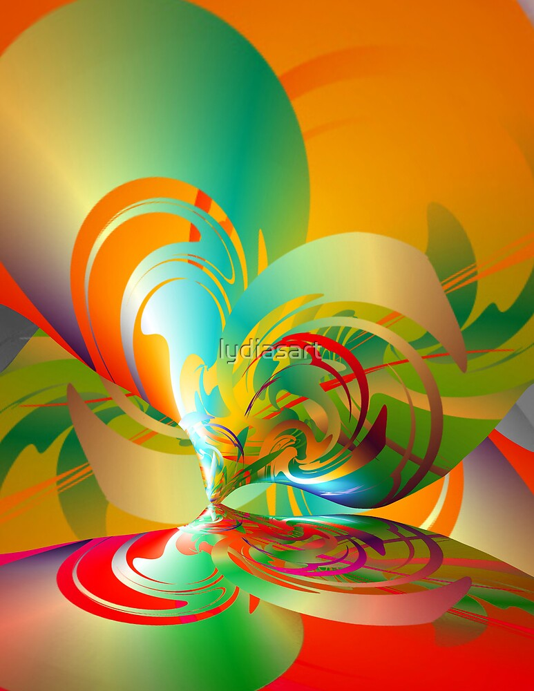 Abstract Heart Reflection by lydiasart