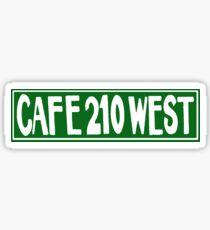 Cafe 210 West Sticker