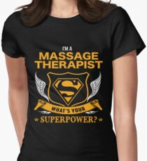 MASSAGE THERAPIST BEST COLLECTION 2017 Women's Fitted T-Shirt