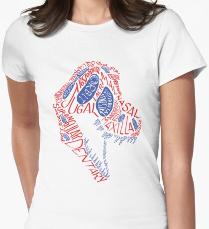 Calligram of the Anatomy of a Tyrannosaur Skull gradient T-Shirt