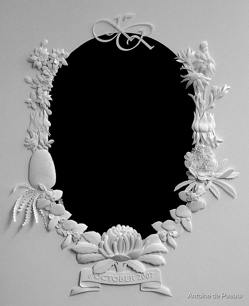 Wedding frame by Antoine de Paauw