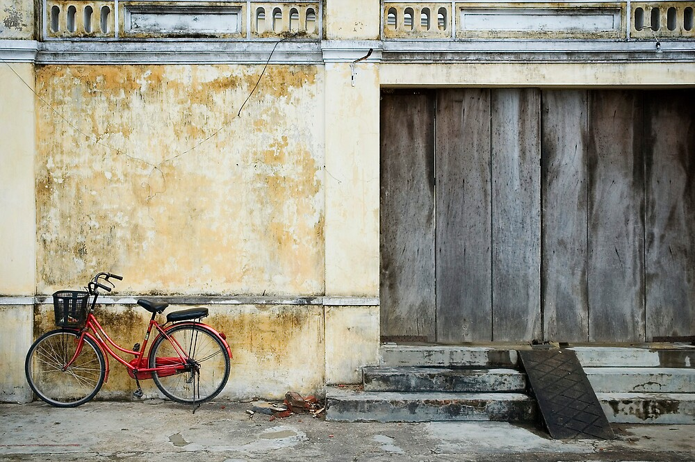 Hoi An, Vietnam - Red Bike by Amber Parsons