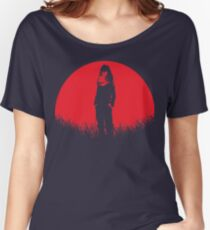 Eraser Head Hero Aizawa Sensei Red Moon Women's Relaxed Fit T-Shirt