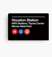 Houston Pro Sports Venues Subway Sign Canvas Print