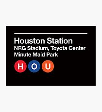 Houston Pro Sports Venues Subway Sign Photographic Print
