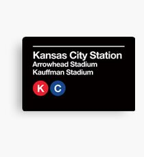 Kansas City Pro Sports Venues Subway Sign Canvas Print