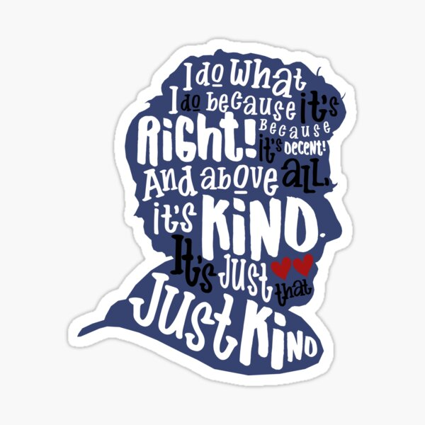 Twelfth Doctor- Kindness Sticker