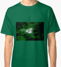 Glowing white flowers on a shrub in a garden  Classic T-Shirt