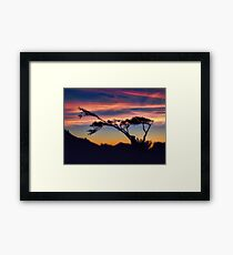 Silhouette Sunset on the Oregon Coast Framed Print