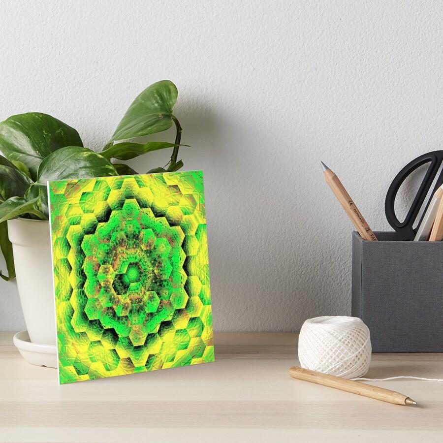 Celestial Hex Art Board Print
