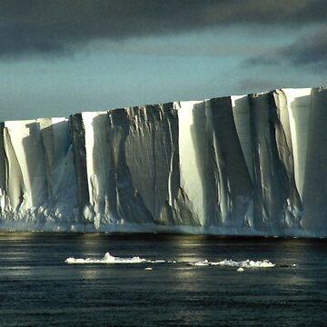Tabular Iceberg Antarctica - at Night by Carole-Anne