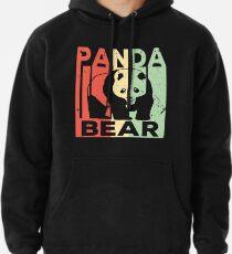 Panda Bär Vintage Retro Hoodie