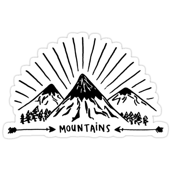 Quot Mountains Quot Stickers By Liana Spiro Redbubble