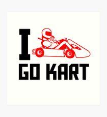 I Go Kart! Art Print