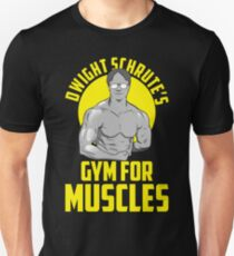 dwight schrutes's gym for muscles training lifting weights T-Shirt