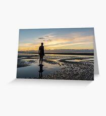 Sunset light, Crosby beach Greeting Card