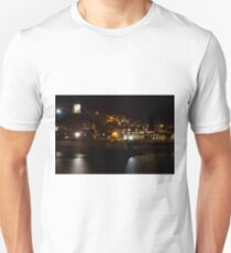 Whitby East Cliff By Night Unisex T-Shirt