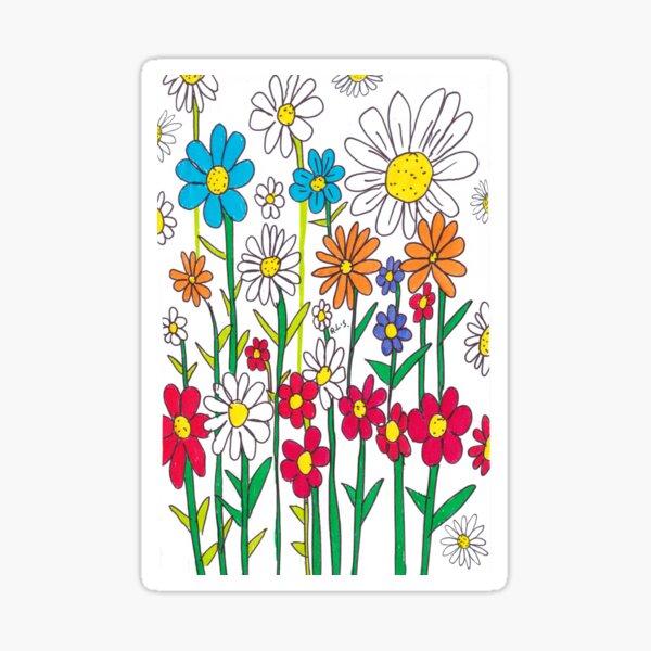 Flourishing Flowering Delights Sticker