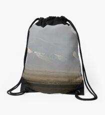 Pamirs at dusk Drawstring Bag
